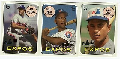 2019 Topps Archives Expos 50 Years Anniversary Lot Moises Alou Laboy Fassero