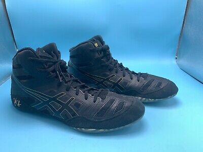 Asics JB Elite Men's Jordan Burroughs Black Wrestling Shoes J3A1Y US Size 11.5