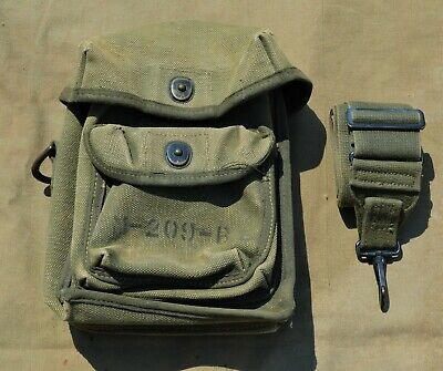 WWII US Army M-209-B Bag w/ Strap Signals Signal Corps Cipher Cryptography WW2