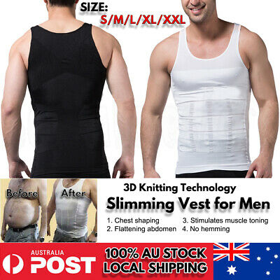 Men Men's Slimming Body Slim Shaper Underwear Corset Compression Vest/Shirt MENS
