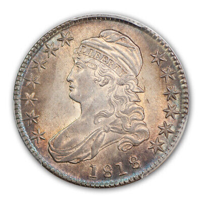 1818 50C Capped Bust Half Dollar PCGS MS64