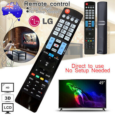 Genuine LG TV Remote Control No Programming For All LG 3D LCD Smart HDTV TV
