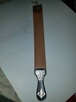 "Illinois Razor Strop 127 Fine Weave Linen Finish 24"" x 2 1/2"" Leather Brand new"