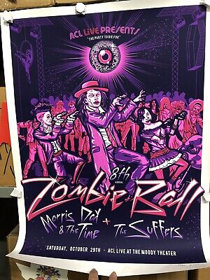 8TH ANNUAL Austin City Limits ZOMBIE BALL Poster Signed & #'ed.  Morris Day 2016