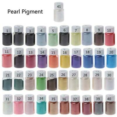 41Color 10g Pearlescent Powder Mica Epoxy Resin Dye Pearl Pigment Jewelry Making