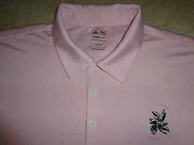 Mens - ADIDAS GOLF - CLIMALITE Polo Pink L Large cool