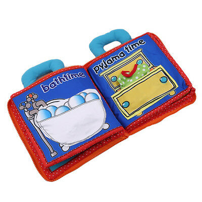 Soft Baby Cloth Book Early Educational Newborn Crib Toys for 0-36 Months Infant