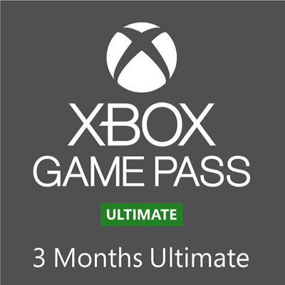 Xbox Live Game Pass Ultimate 3-Month Membership - Digital Code - Xbox One / 360