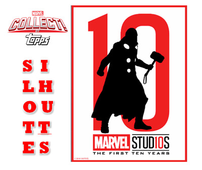 2019 MARVEL STUDIOS TEN YEARS SILHOUETTES THOR Topps Marvel Collect Digital