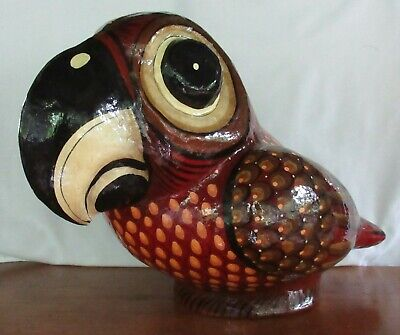 Ser-Mel LARGE Papier Mache Bird 1970s Sergio Bustamante Beak - Tip of Tail 20 in