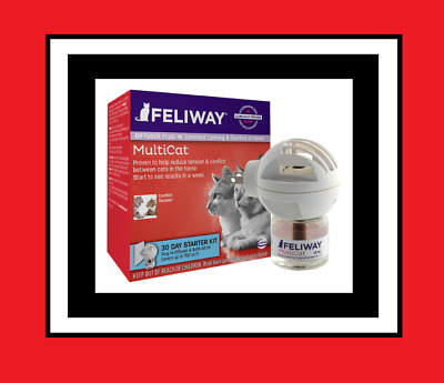 CEVA Felliway MULTICAT DIFFUSER for Cats 30 Day Starter Kit Exp. 12/2020 NEW