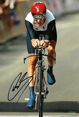 Bradley WIGGINS Signed Autograph 12x8 Photo 4 Olympic Medal Winner AFTAL COA