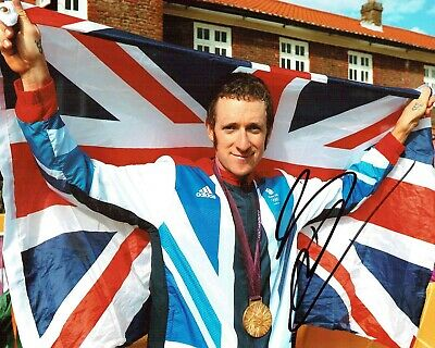Bradley WIGGINS Signed Autograph 10x8 Photo 3 Cycling Olympic Winner AFTAL COA