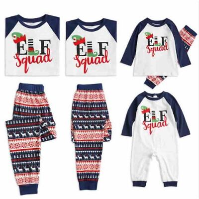 Elf Pyjamas Christmas Family PJs Matching Set Dad Mum Cheeky Little Elves Xmas