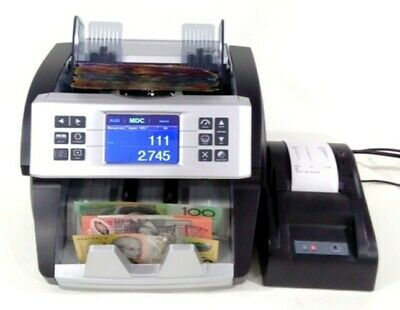 AUSCOUNT AUS1000 COMMERCIAL MIXED DENOMINATION NOTE COUNTER WITH PRINTER cash