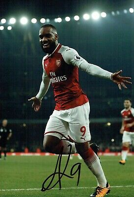 Alexandre LACAZETTE Arsenal Football SIGNED Autograph 12x8 Photo 1 COA AFTAL