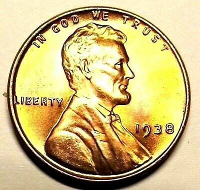 """1945-S Lincoln Wheat 1c/""""GOLDEN/""""CHOICE BU//RD/""""Original Mint Luster/""""from OBW.99cS/&H"""