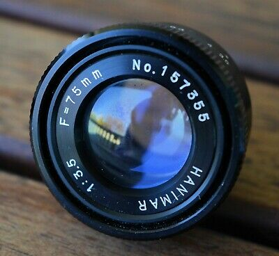 HANIMAR HANIMEX 75mm f3.5 Enlarging lens - M23.5x0.5 thread mount