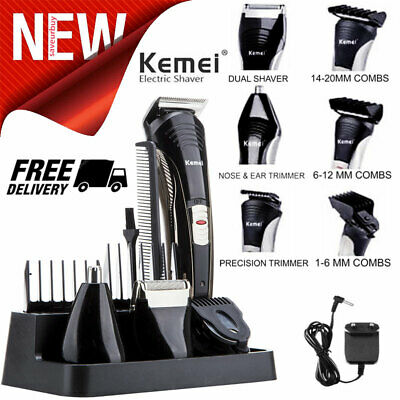 Men's Shaver Hair Trimmer Clipper Electric Beard Rechargeable 7 in 1 Hair Razor