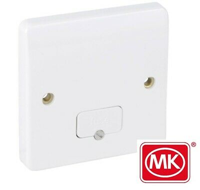 MK ELECTRIC 13A DP Unswitched Fused Spur+Cable Outlet white
