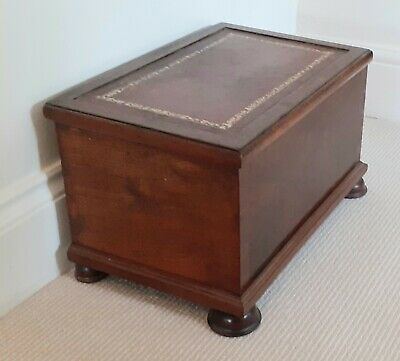 Antique / Vintage Wooden Storage Chest / Small Trunk Hinged Lid