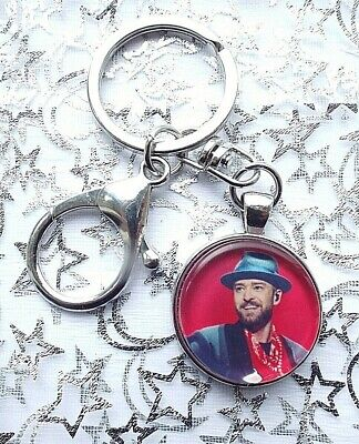 Justin Timberlake Singer Photo Key Ring Lobster Claw & Swivel  With Gift Box