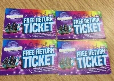 4 x Oakwood Theme Park Tickets South Wales Open & Valid Until November 3rd 2019