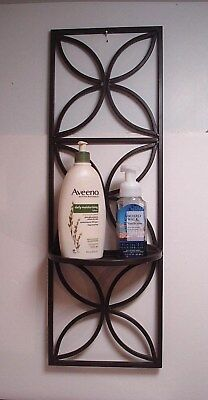Wrought Iron Longaberger ?  Wall hanging Shelf bathroom kitchen floral decor