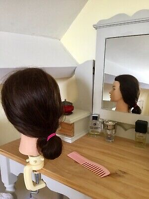 A Realistic Female Head Model With Long Human Hair And Clamp