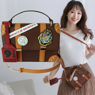 Harry Potter Hogwarts School Badge Square Bag Chain Shoulder Bag Post Handbags