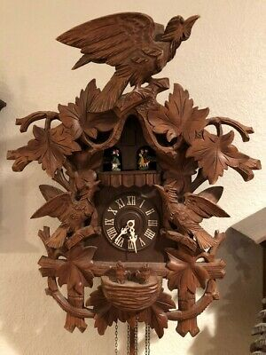 Vintage Black Forest Musical Cuckoo Clock ~ Germany-parts or repair