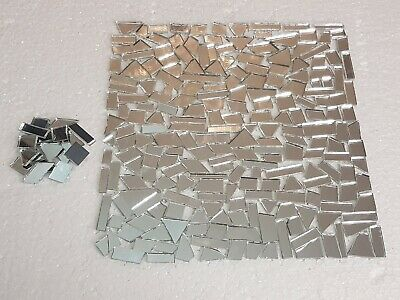 100 Pieces, Offcuts Silver Glass Mirror. 2 mm Thickness. Art&Craft,