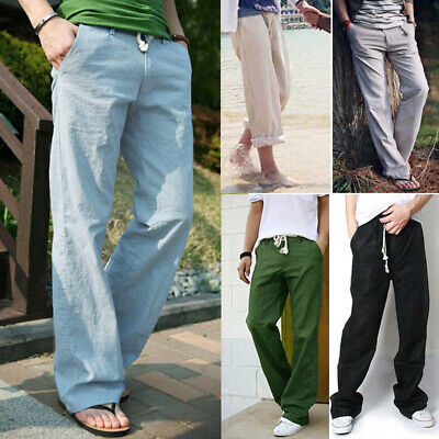Mens Plain Harem Pants Slim Sport Jogger Sweatpants Tracksuit Jogging Trousers