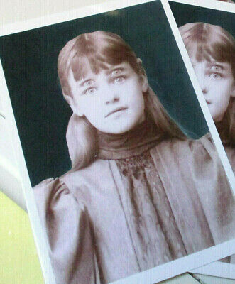 5 New Halloween Postcards Card Fantastic Vintage Image Spooky Girl Ghost