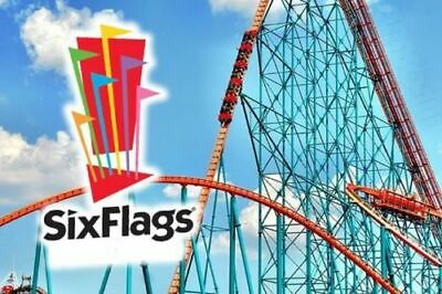 TWO (2) Six Flags U.S. Amusement Park One Day Pass 2019 Tickets!!