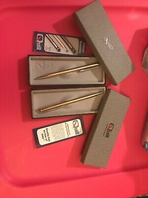 Lot of 2 Quill Brand Silver Tone Ballpoint Pens Engraved Louisiana Power & Light