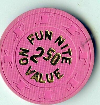 NCV Casino Poker Chip: Fun Nite 2.50 Pink
