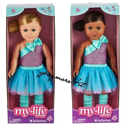 "2 My Life As 18"" Poseable Ballerina Doll Blonde Hair & African American"