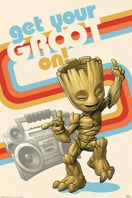 Les Gardiens De La Galaxie - Get Your Groot On Poster Affiche (91x61cm) #126124