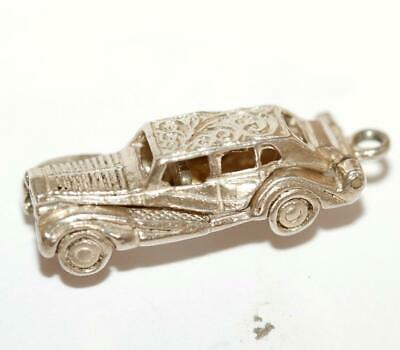 Opening Rolls Royce Limousine Car Ornate Detail Sterling Silver Vintage Charm
