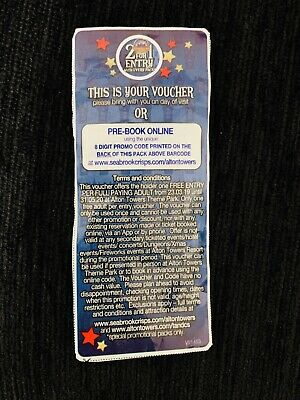 2 for 1 Alton Towers Code or Voucher (Merlin Theme Park 2for1 Discount Tickets)