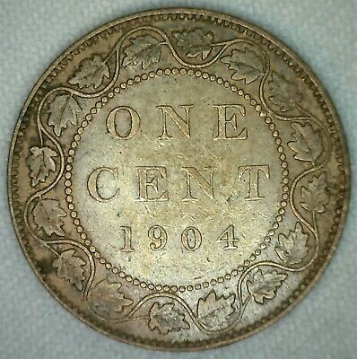 1904 Edward VII Large Cent Copper Canada One Cent You Grade KJ16