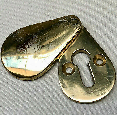 Vintage Solid Brass  Escutcheon Key Hole Surround And Cover