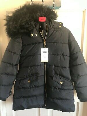 BNWT Marks & Spencer 'Stormwear' Hooded Coat. Black. Girls. Age 4 - 9 Years.
