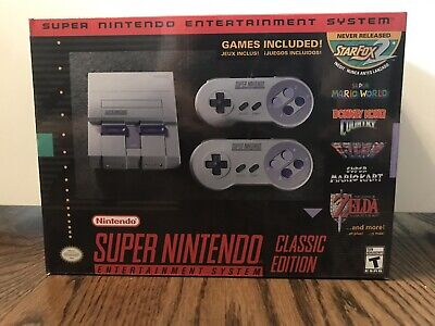 Authentic SNES Super Nintendo Classic Mini Super Entertainment System