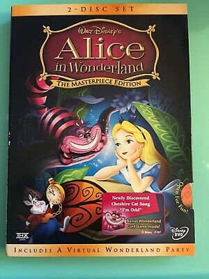 Disney's Alice in Wonderland (DVD, 2004, 2-Disc Set, The Masterpiece Edition)