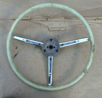 1951 1952 Chrysler Imperial STEERING WHEEL Original New Yorker white Hub Trim