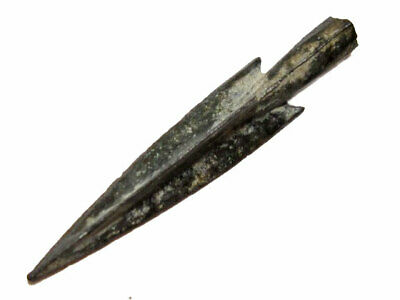 RARE GREEK SOCKETED TRILOBATE Barbed Billon ARROWHEAD, TOP CONDITION+++