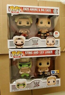 Lot x2 Funko Pop! 2 Pack WWE wrestling Lex Luger Sting Exclusives FYE walgre
