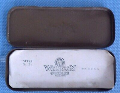 Antique Metal Willson Goggles - Glasses Case
